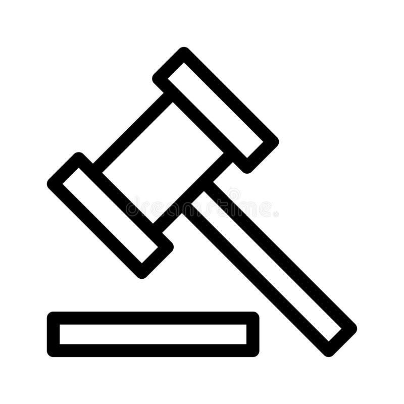 Icona del martelletto della corte illustrazione vettoriale