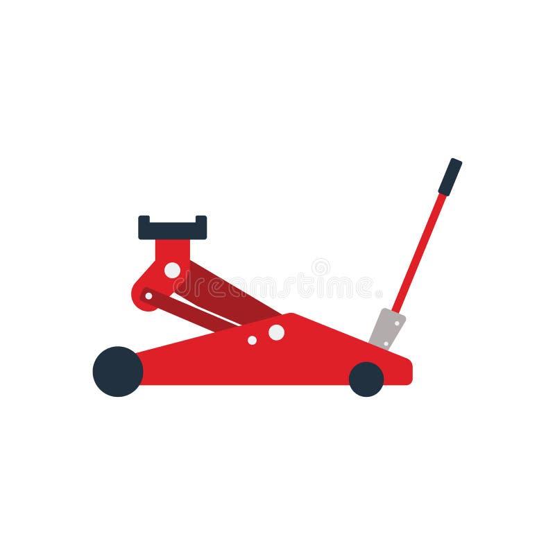 Icona del martinetto idraulico illustrazione di stock