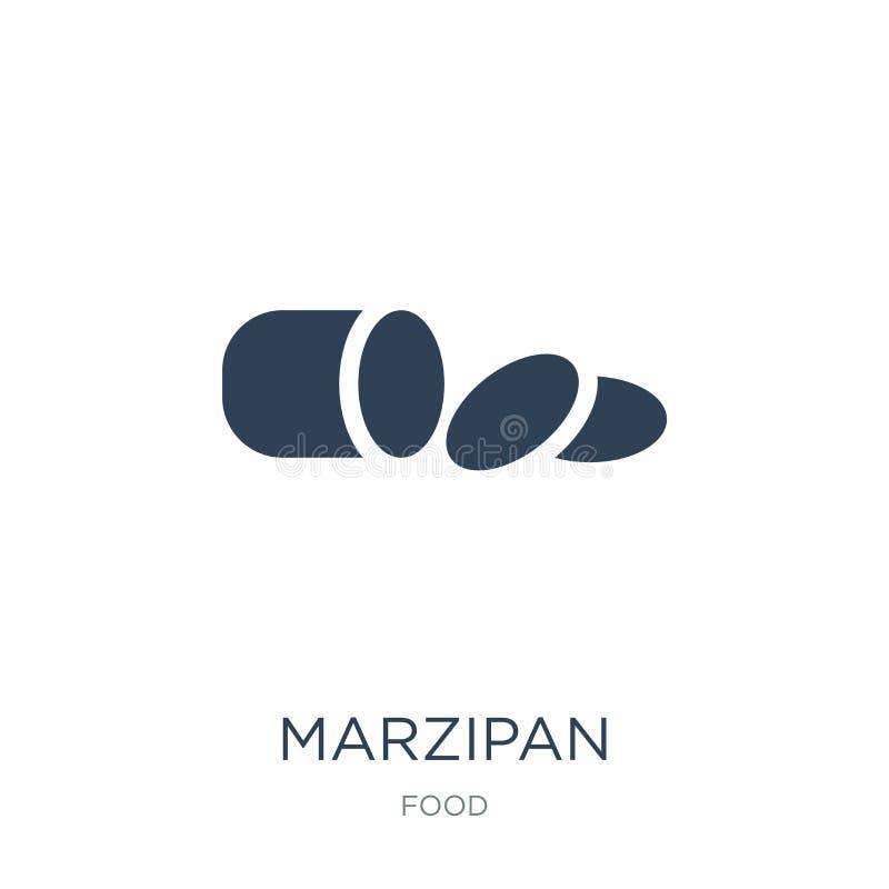 icona del marzapane nello stile d'avanguardia di progettazione icona del marzapane isolata su fondo bianco piano semplice e moder illustrazione vettoriale