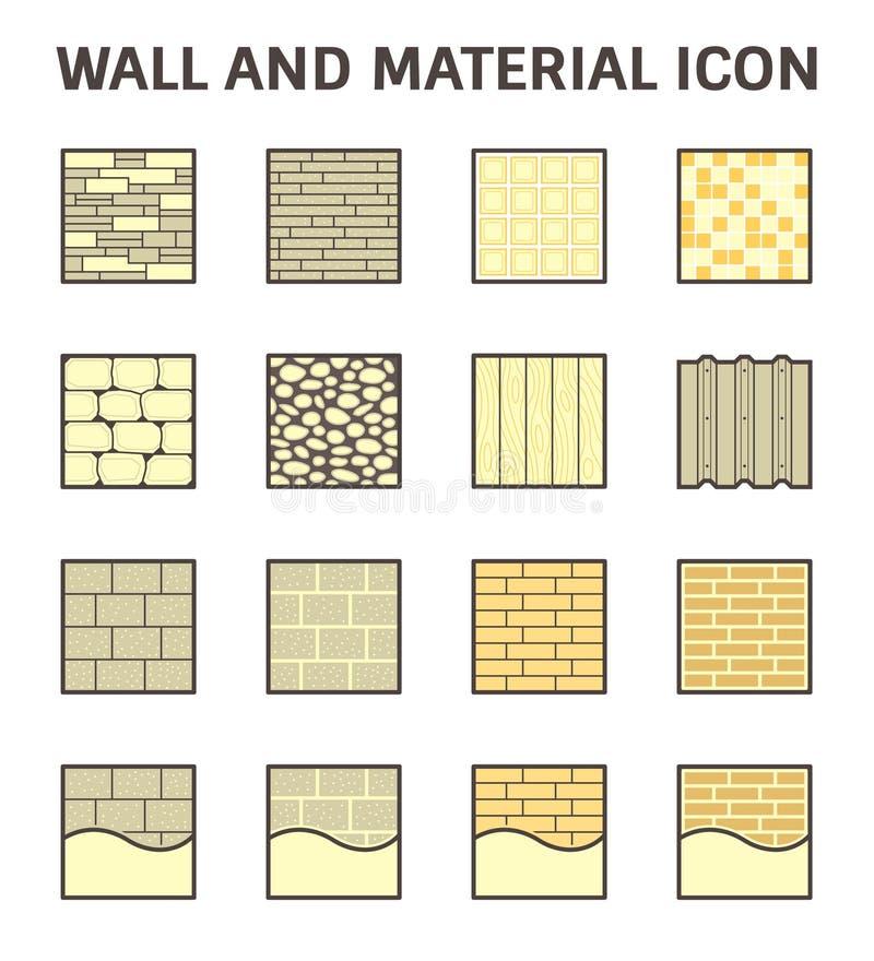 Icona del materiale della parete illustrazione di stock