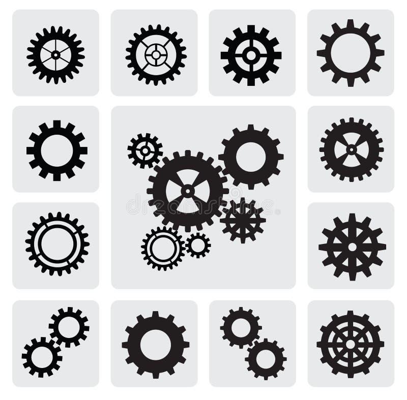 Icona del meccanismo della ruota dentata illustrazione di stock