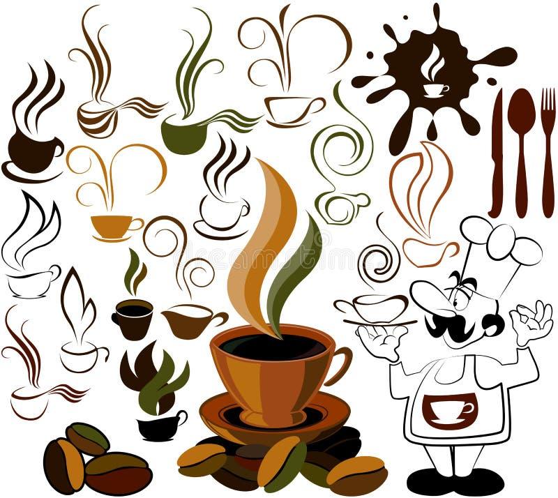 Icona del menu del caffè illustrazione di stock