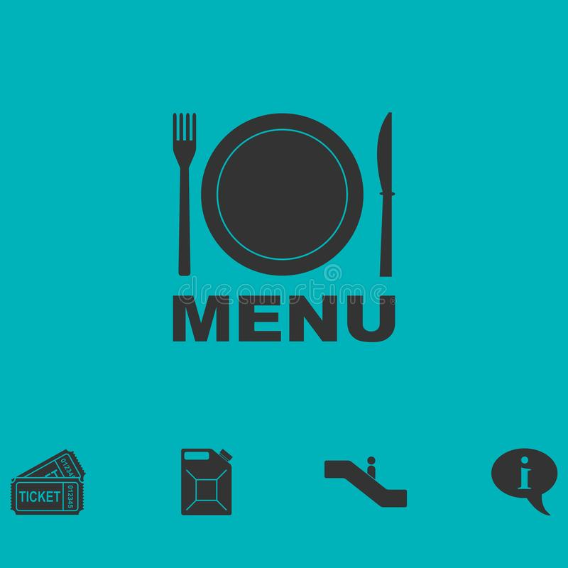 Icona del menu piana royalty illustrazione gratis