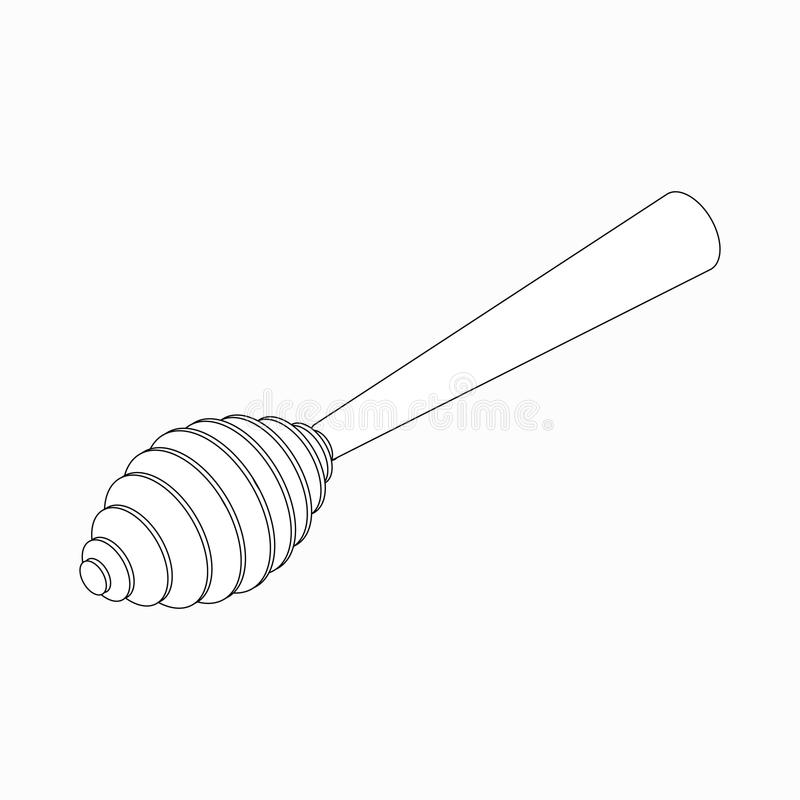 Icona del merlo acquaiolo del miele, stile isometrico 3d illustrazione vettoriale