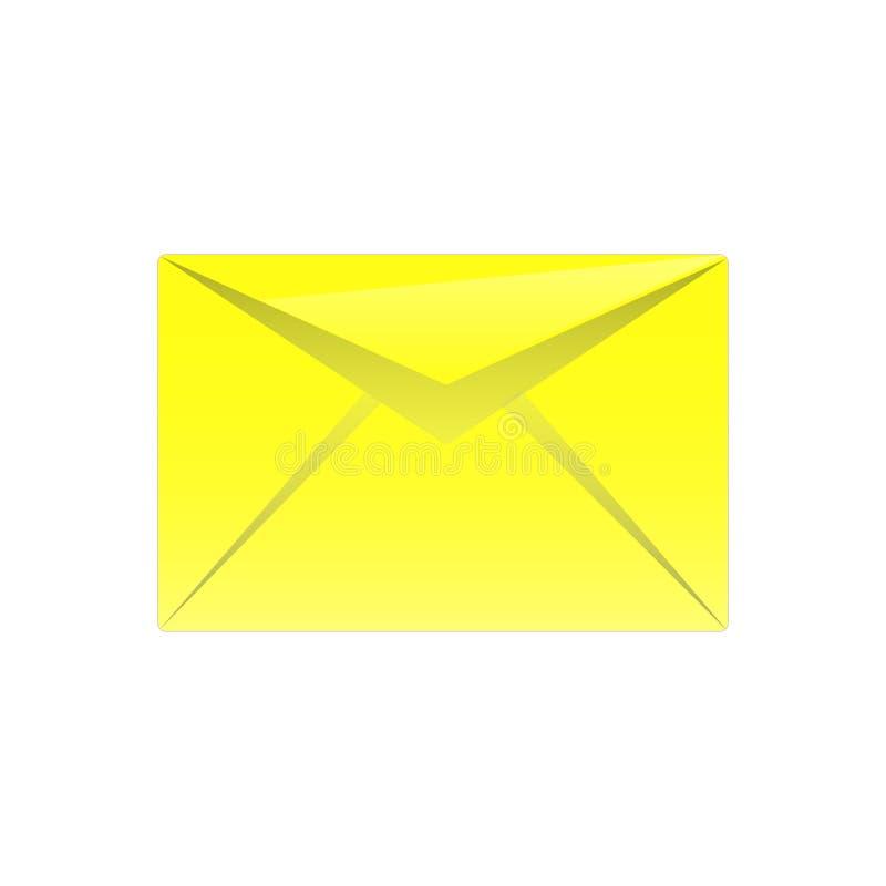 Icona del messaggio fotografia stock