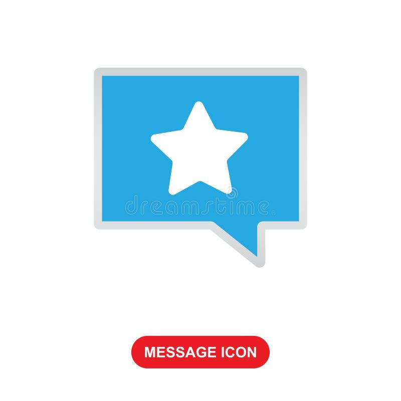 Icona del messaggio con l'icona di vecor di simbolo della stella royalty illustrazione gratis