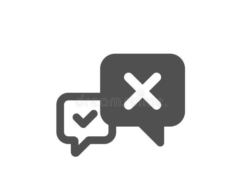 Icona del messaggio di scarto Segno di chiacchierata di declino Vettore illustrazione vettoriale