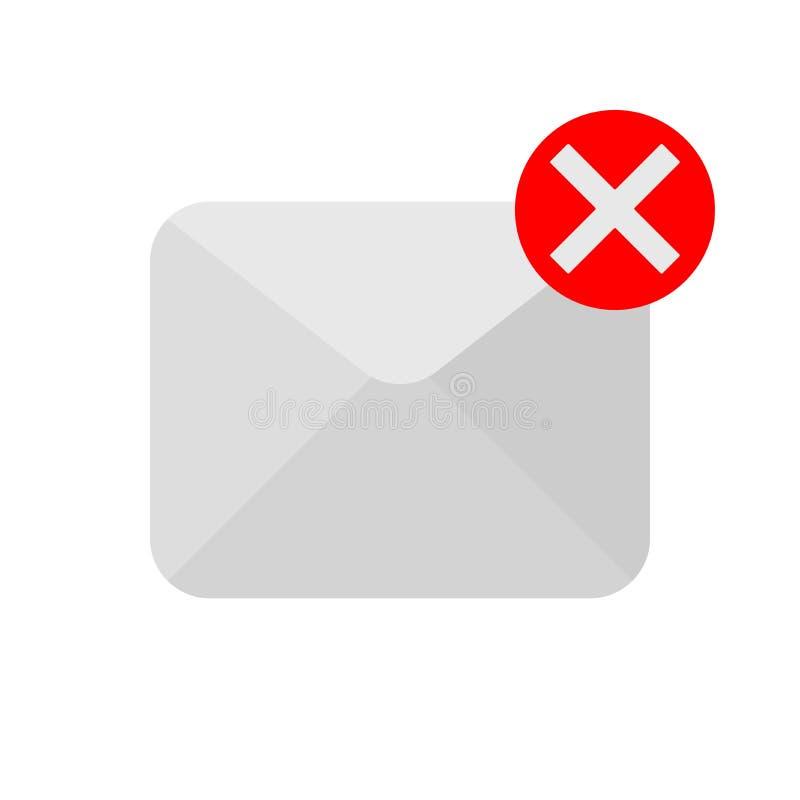 Icona del messge di cancellazione royalty illustrazione gratis