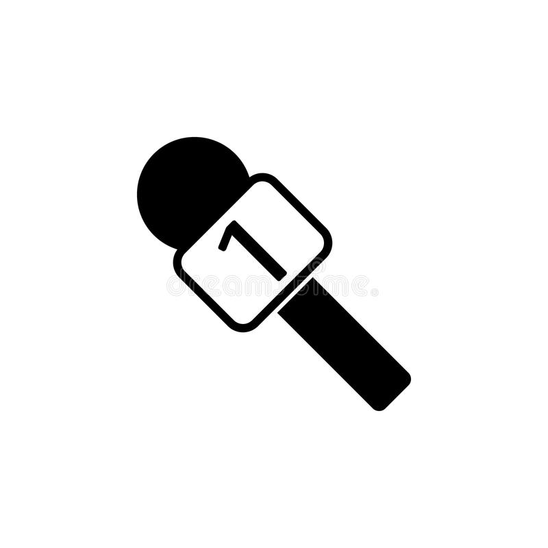icona del microfono del capo Elementi delle notizie e dei media che scorrono icona Progettazione grafica di qualità premio Segni, illustrazione di stock