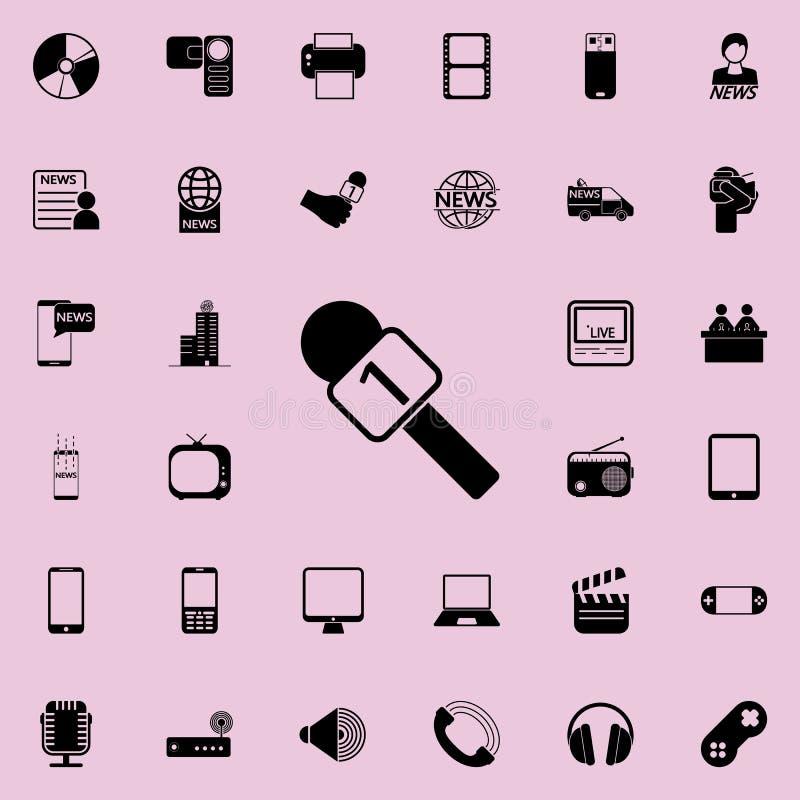 icona del microfono del capo Insieme dettagliato delle icone minimalistic Progettazione grafica premio Una delle icone della racc illustrazione di stock