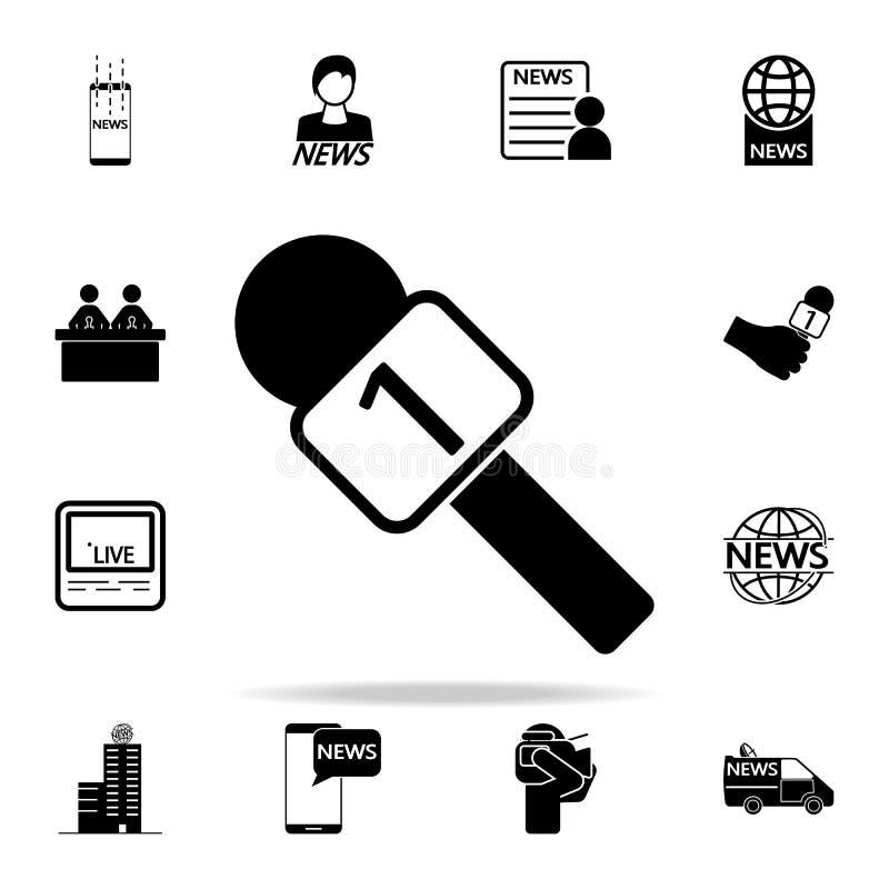 icona del microfono del capo Insieme universale delle icone di media per il web ed il cellulare illustrazione di stock