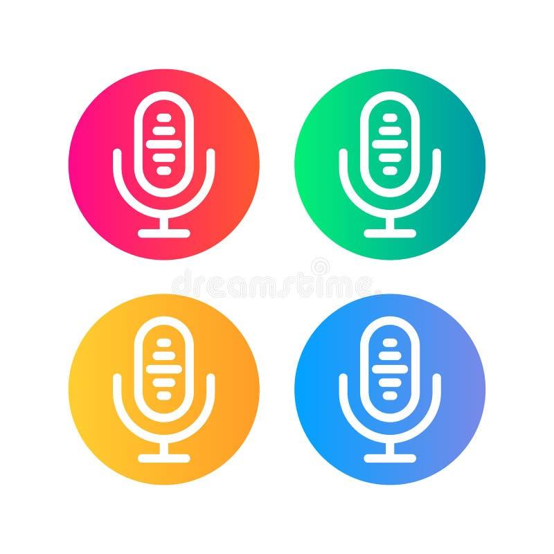 Icona del microfono illustrazione di stock