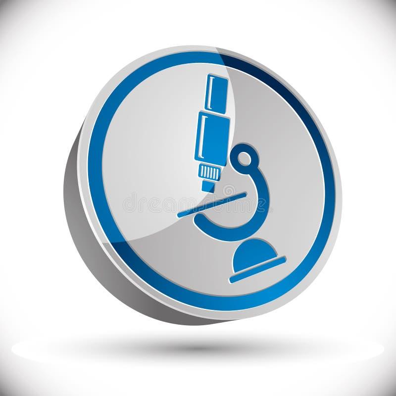 Icona del microscopio di vettore royalty illustrazione gratis