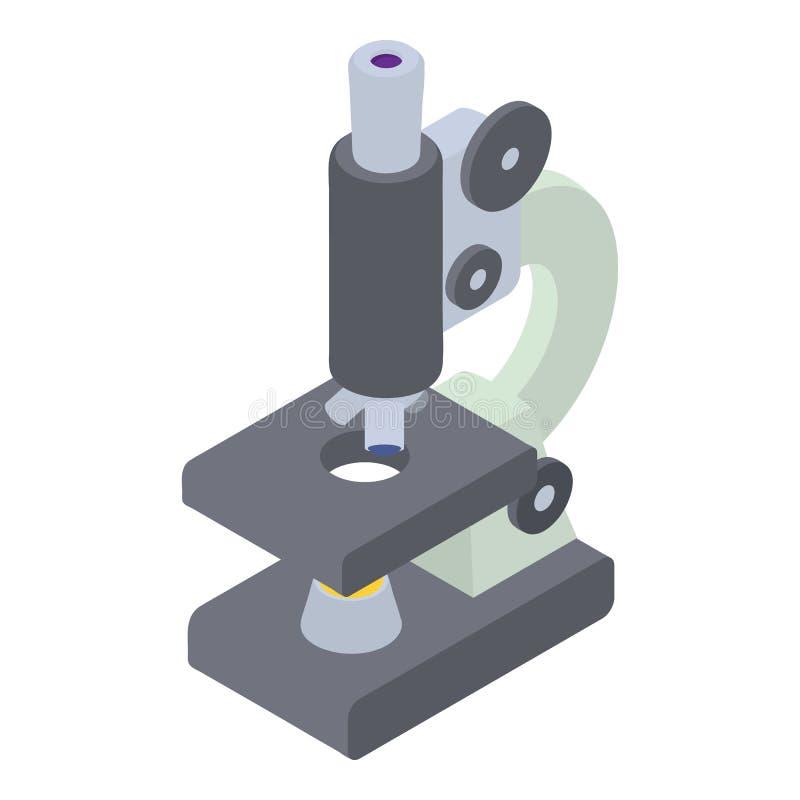 Icona del microscopio, stile isometrico 3d royalty illustrazione gratis