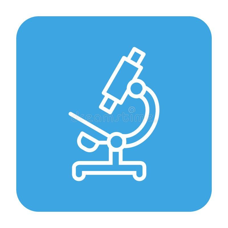 Icona del microscopio, stile piano illustrazione vettoriale