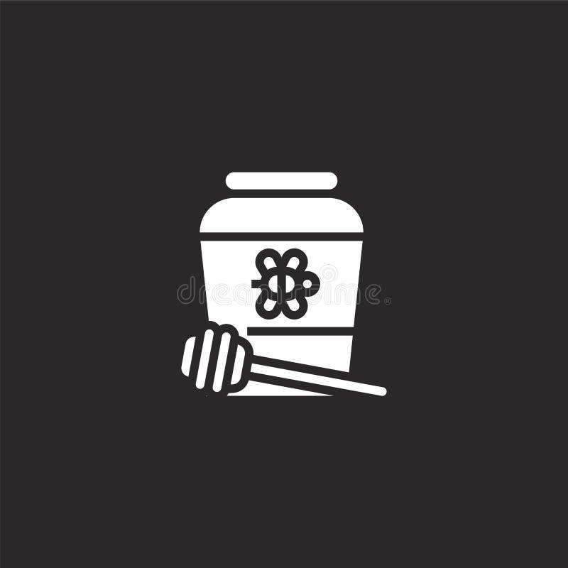 Icona del miele Icona riempita del miele per progettazione del sito Web ed il cellulare, sviluppo del app l'icona del miele dalla illustrazione vettoriale