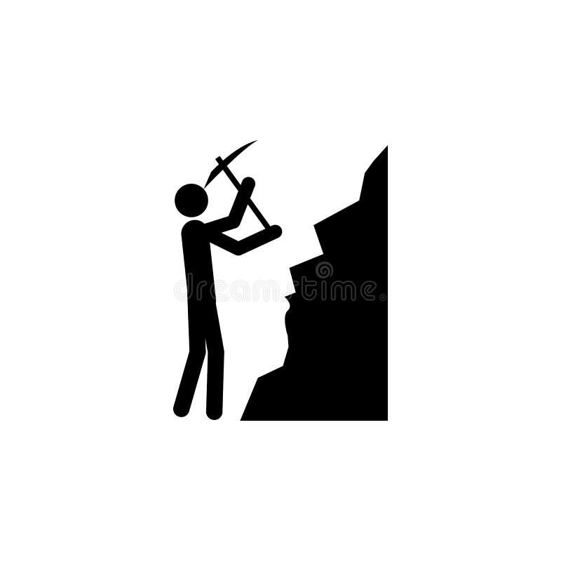 Icona del minatore Elemento della gente all'icona del lavoro per i apps mobili di web e di concetto L'icona dettagliata del minat illustrazione vettoriale
