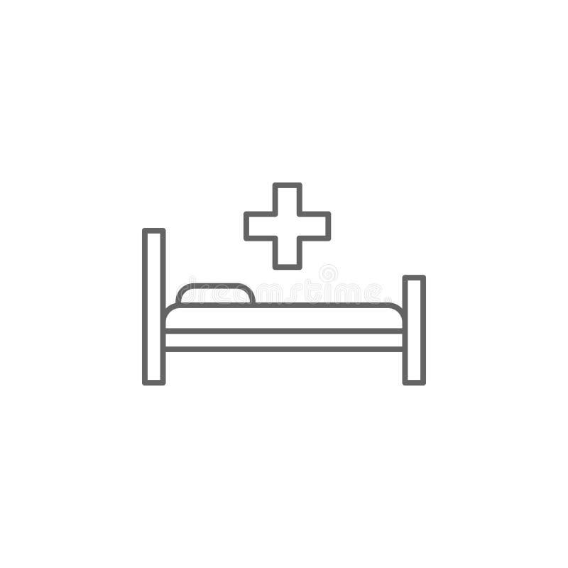 Icona del mobile Icona elemento della medicina Icona linea sottile illustrazione vettoriale