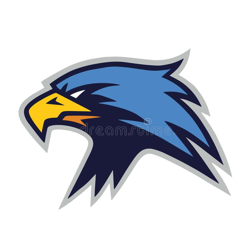 Icona del modello di Eagle Furious Mascot Logo Vector royalty illustrazione gratis