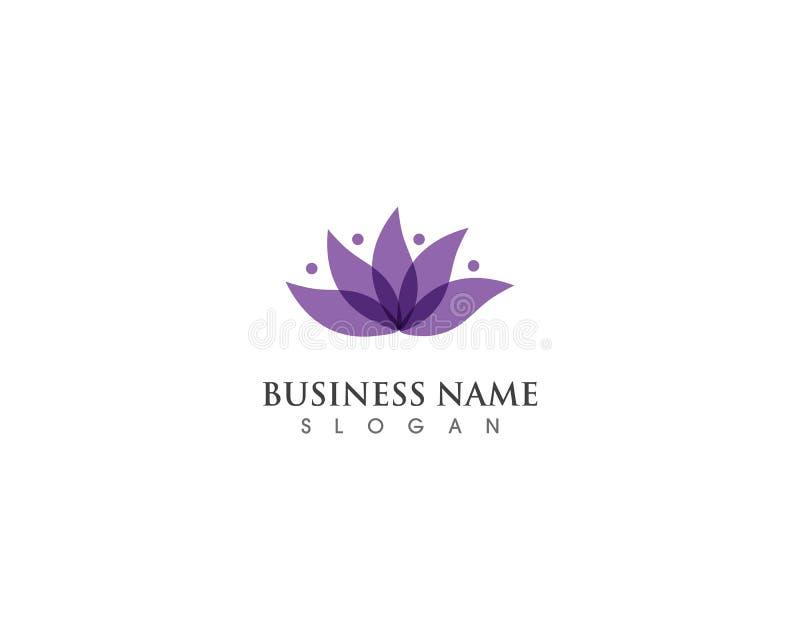 Icona del modello di logo di progettazione dei fiori di Lotus Vector di bellezza illustrazione vettoriale