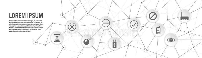 Icona del modem Dall'insieme di web illustrazione di stock
