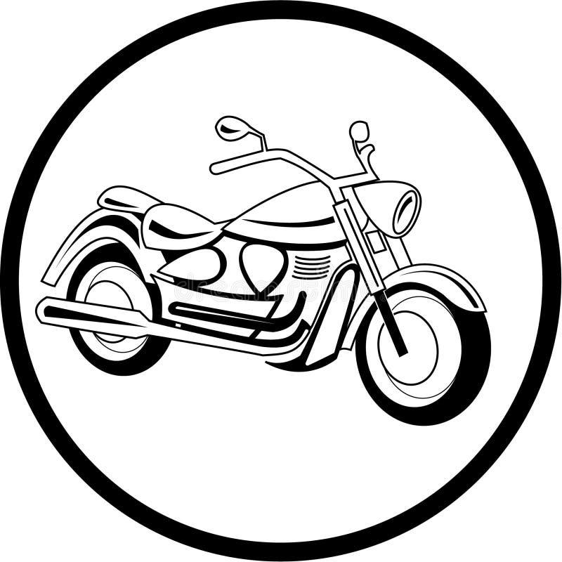 Icona del motociclo di vettore royalty illustrazione gratis