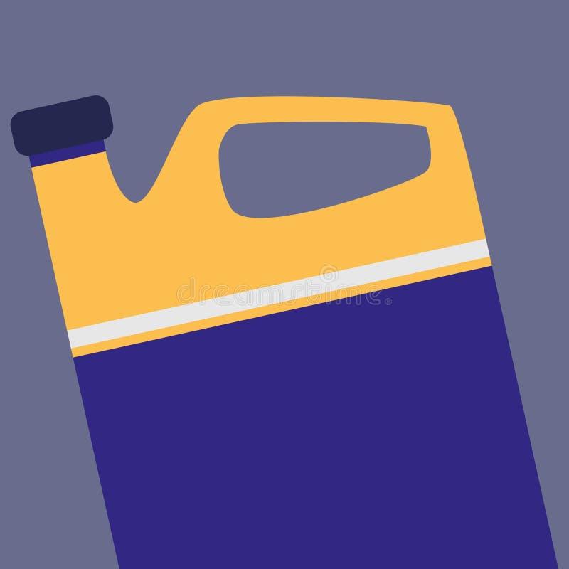 Icona del motore di gallone dell'olio illustrazione di stock