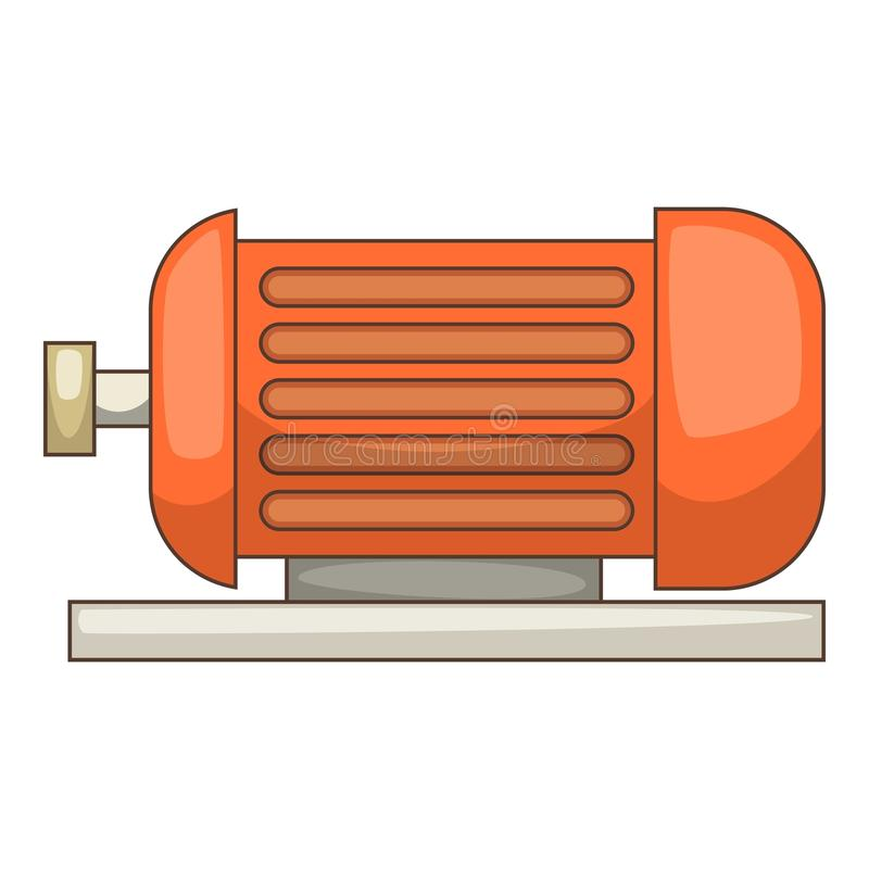 Icona del motore elettrico, stile del fumetto illustrazione di stock