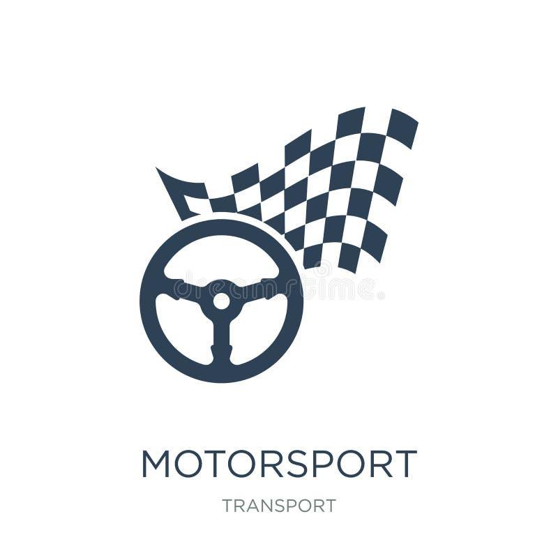 icona del motorsport nello stile d'avanguardia di progettazione icona del motorsport isolata su fondo bianco icona di vettore del royalty illustrazione gratis