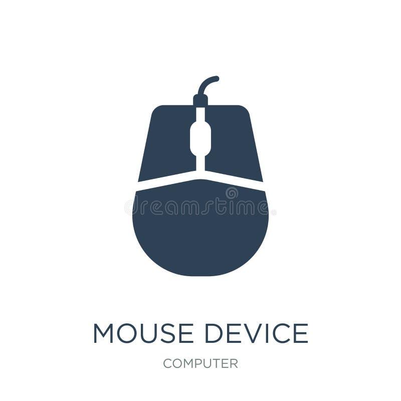 icona del mouse nello stile d'avanguardia di progettazione icona del mouse isolata su fondo bianco icona di vettore del mouse sem illustrazione vettoriale