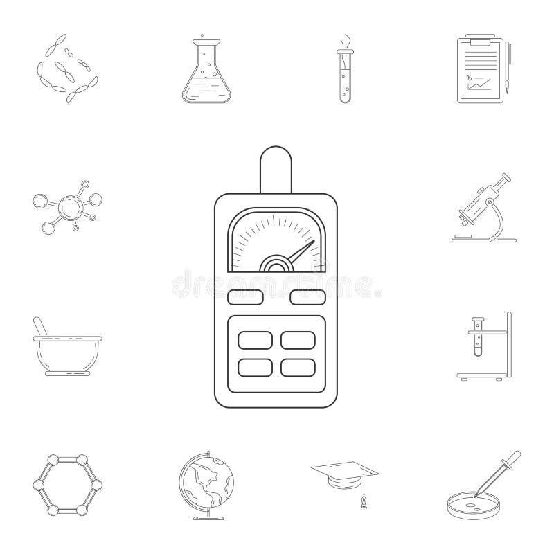Icona del multimetro Insieme dettagliato delle illustrazioni del laboratorio e di scienza Icona premio di progettazione grafica d royalty illustrazione gratis