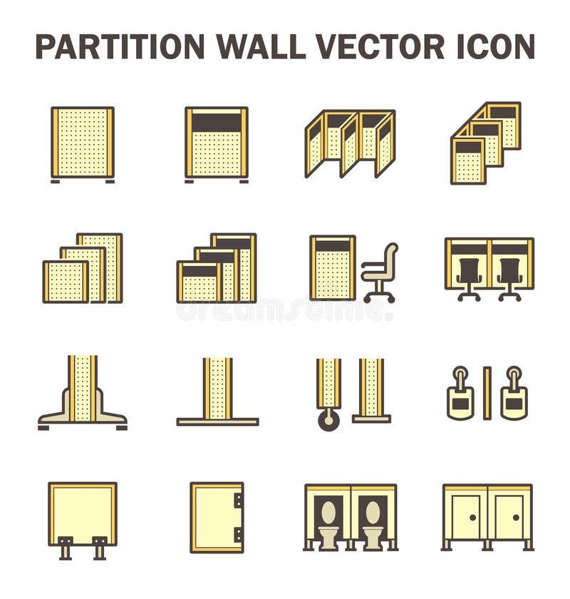 Icona del muro divisorio illustrazione di stock