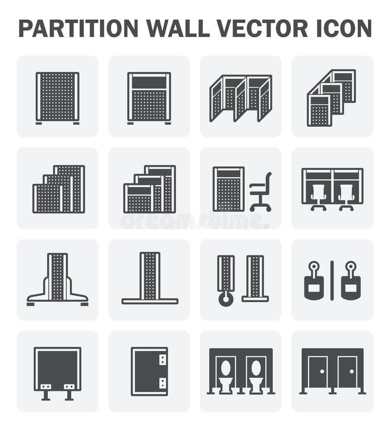 Icona del muro divisorio illustrazione vettoriale