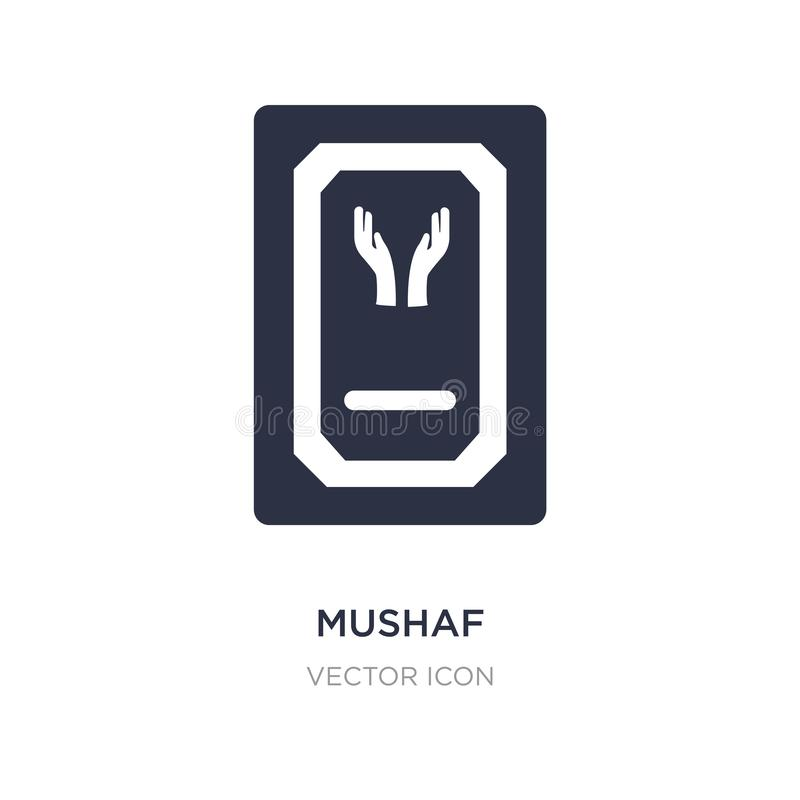 icona del mushaf su fondo bianco Illustrazione semplice dell'elemento dal concetto di religione illustrazione vettoriale