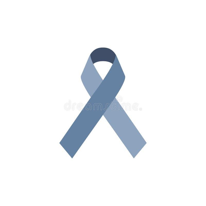 Icona del nastro blu Isolato su bianco Illustrazione di vettore royalty illustrazione gratis