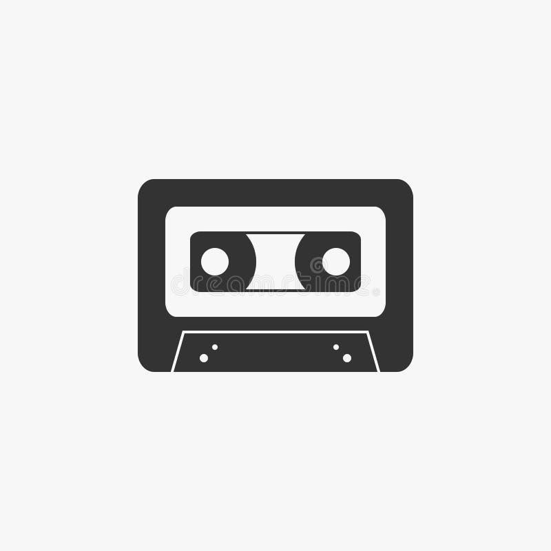 Icona del nastro di musica, musica, nastro, suono illustrazione vettoriale