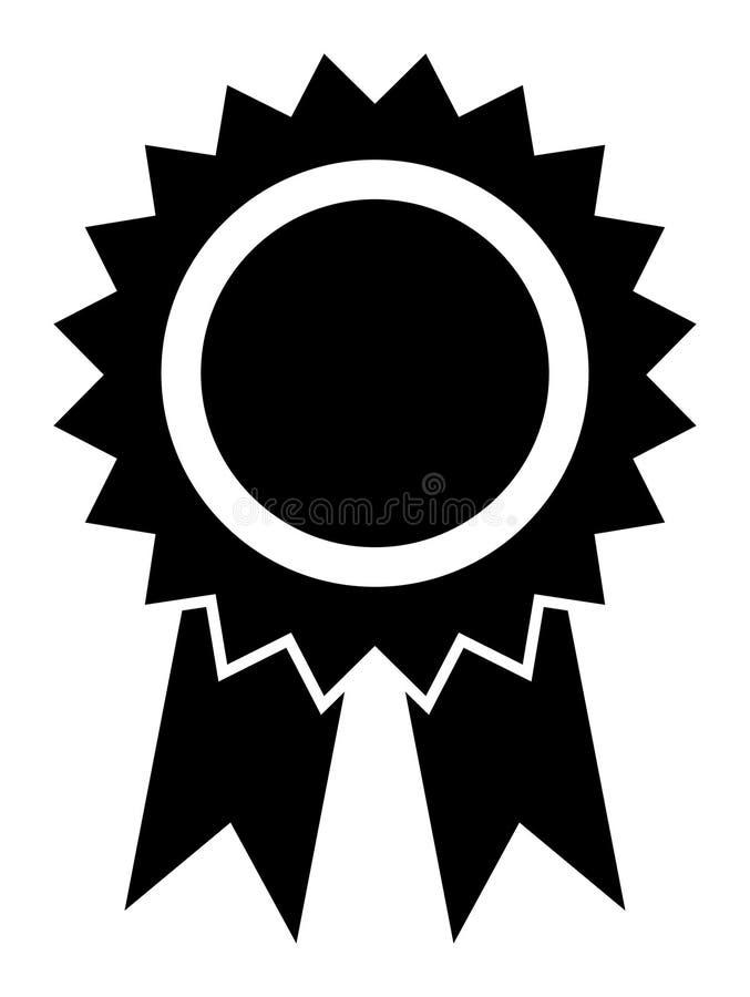 Icona del nastro del premio di vettore illustrazione di stock