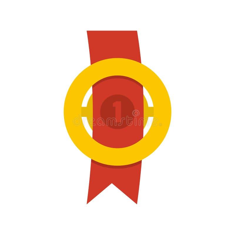 Icona del nastro del premio piana illustrazione di stock