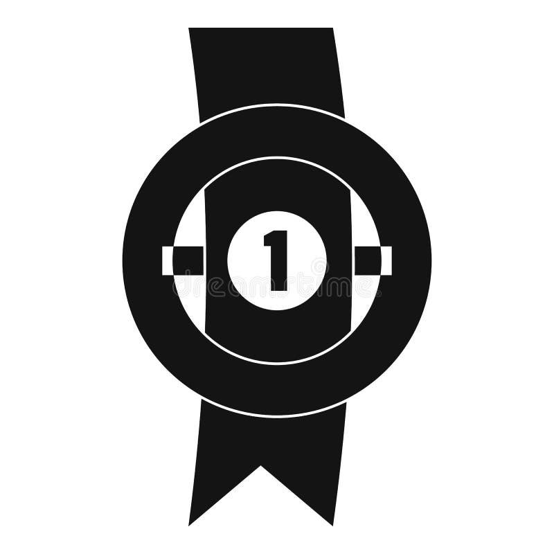 Icona del nastro del premio semplice illustrazione di stock