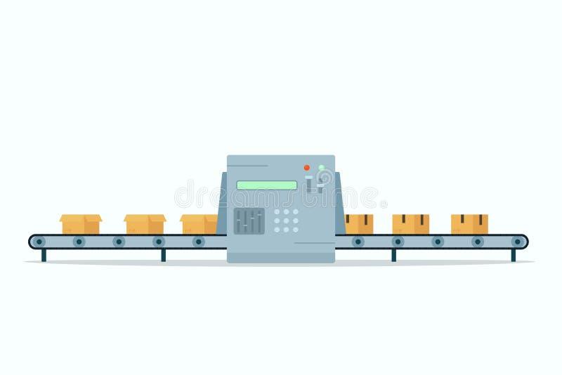 Icona del nastro trasportatore illustrazione vettoriale