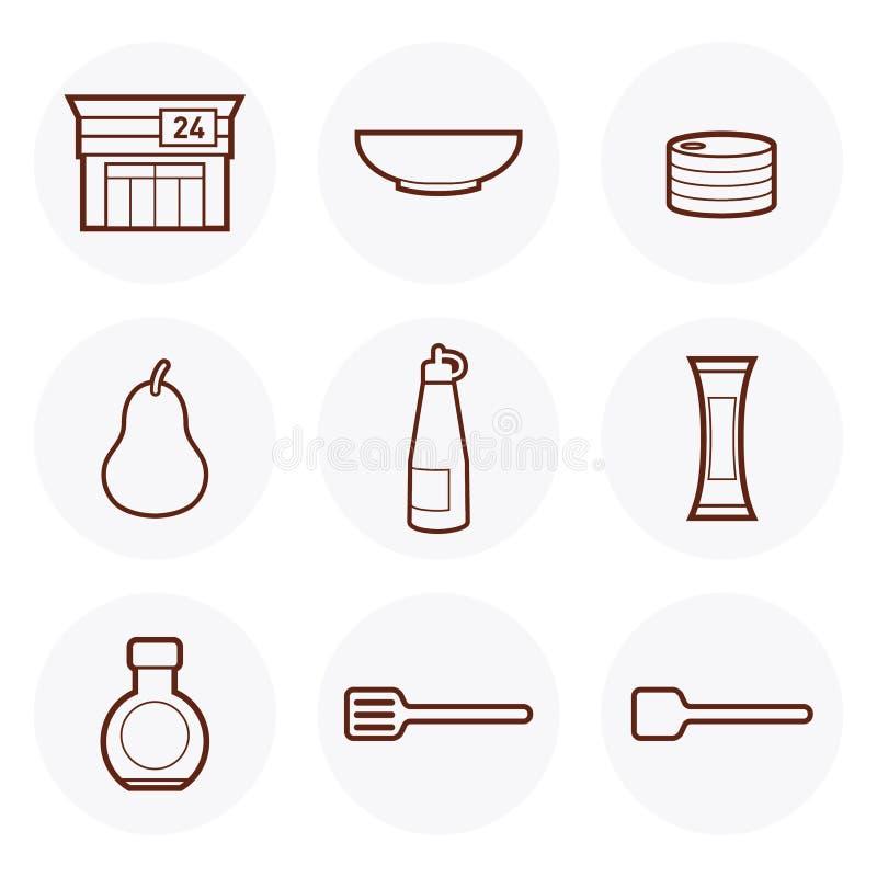 Icona #1 del negozio di alimentari royalty illustrazione gratis