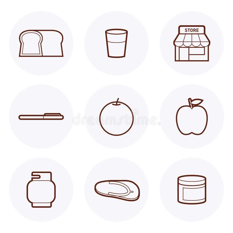Icona #3 del negozio di alimentari illustrazione di stock