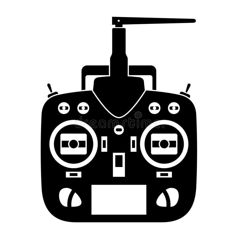 Icona del nero del trasmettitore del rc di telecomando illustrazione vettoriale