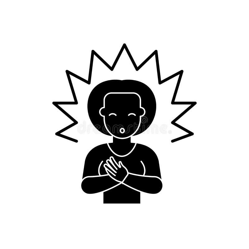 Icona del nero di chiarimento, segno di vettore su fondo isolato Simbolo di concetto di chiarimento, illustrazione royalty illustrazione gratis