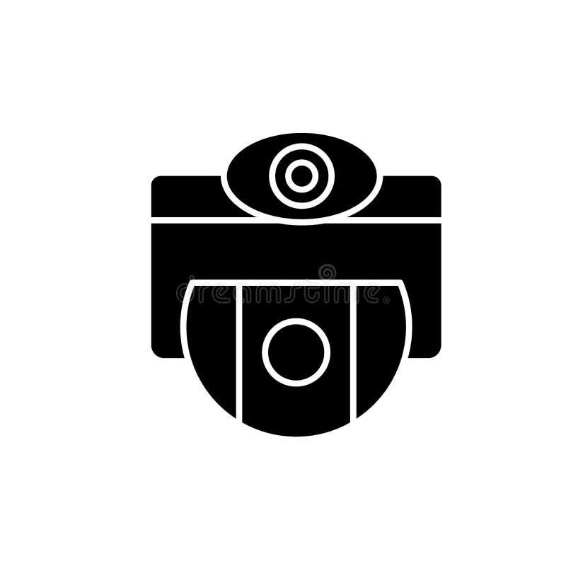 Icona del nero di selezione di visione, segno di vettore su fondo isolato Simbolo di concetto di selezione di visione, illustrazi illustrazione vettoriale