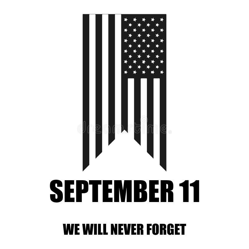 Icona del nero di vettore di giorno del patriota su fondo bianco illustrazione vettoriale