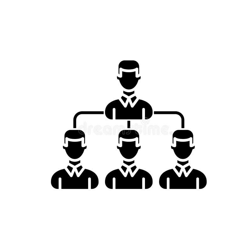 Icona del nero del gruppo di sogno, segno di vettore su fondo isolato Simbolo di concetto del gruppo di sogno, illustrazione royalty illustrazione gratis