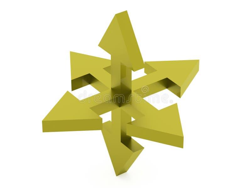 Icona del nord della bussola di direzione su fondo bianco illustrazione di stock