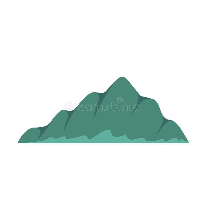 Icona del paesaggio della montagna, stile piano royalty illustrazione gratis