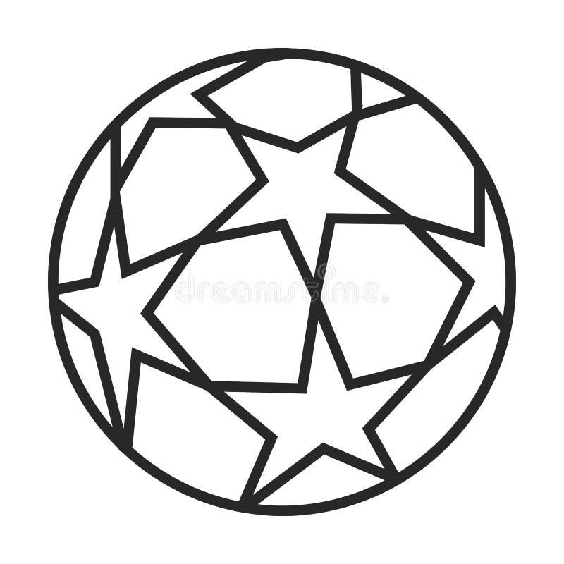 Icona del pallone da calcio illustrazione di stock